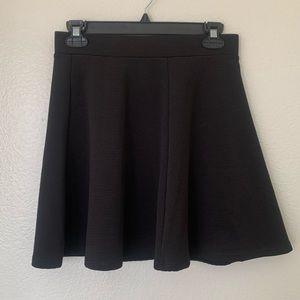 NWOT black skater skirt, back zip H&am